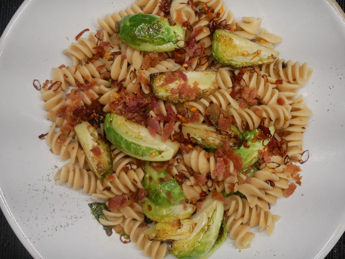Barilla Rotini and Brussels Sprouts